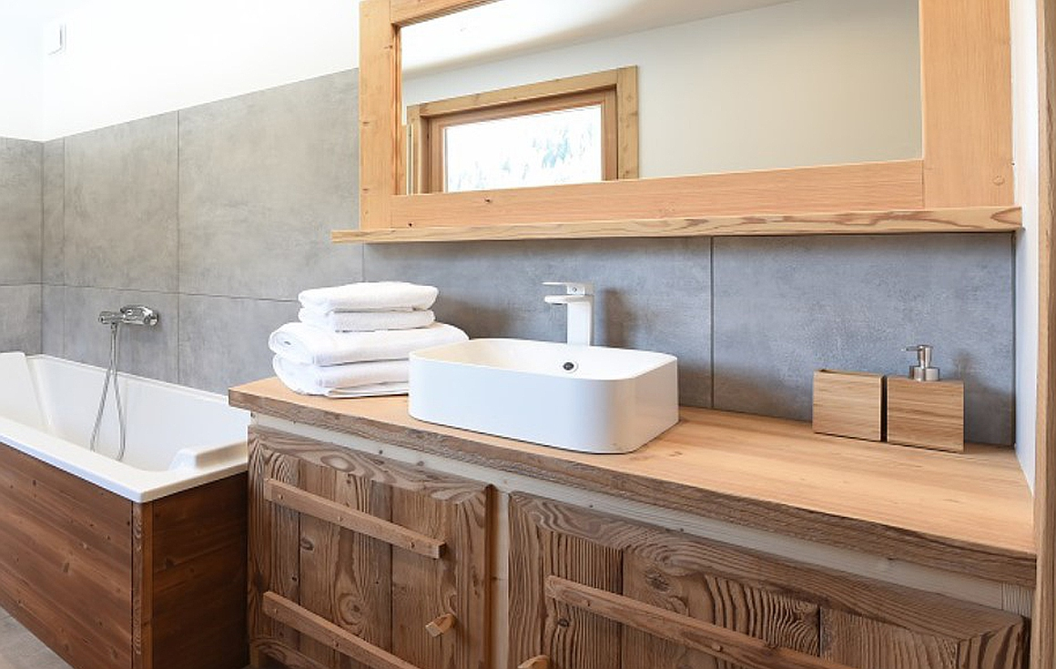 Bathrooms completed in phase 1 chalets for sale in Chatel