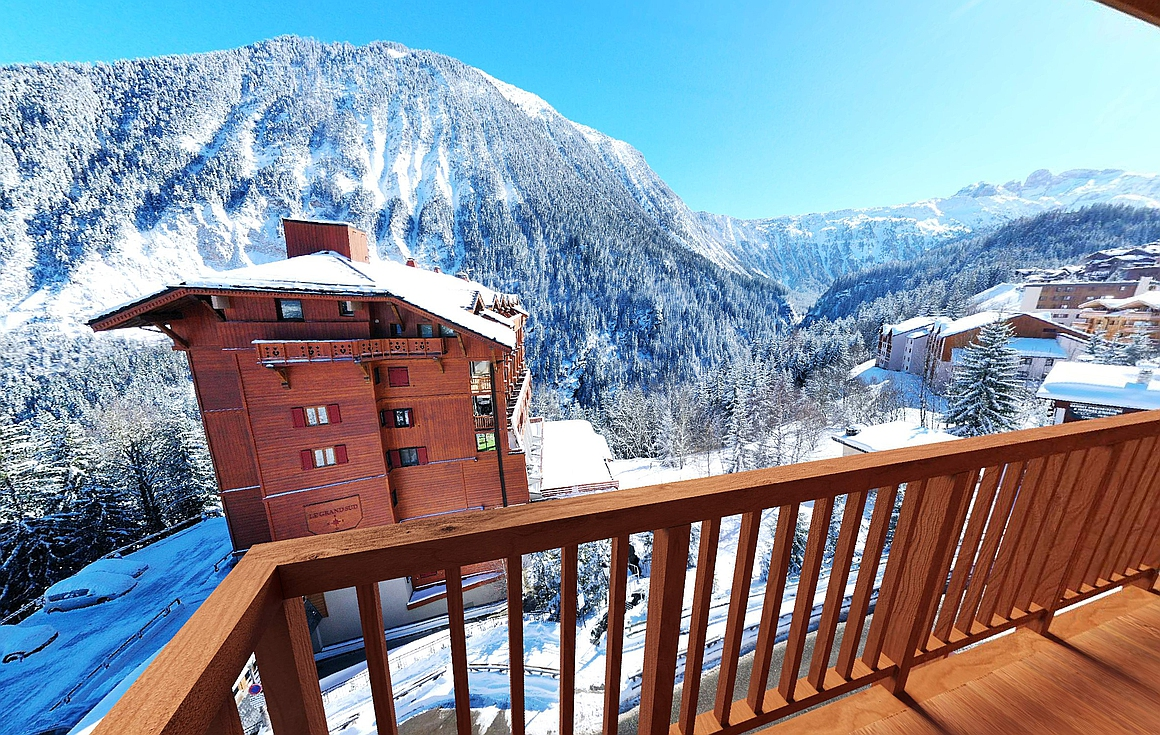 The stunning views from the Courchevel ski chalets for sale