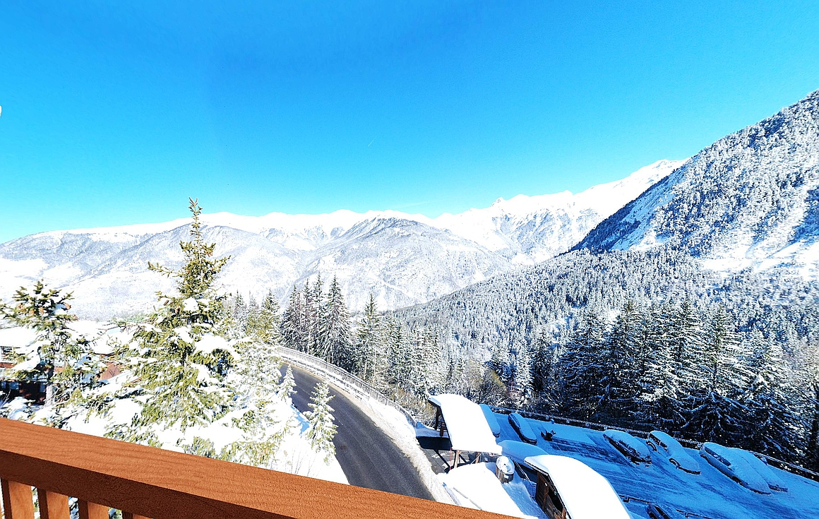The stunning views from the ski properties for sale in Courchevel