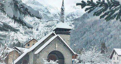 Les Praz in Winter