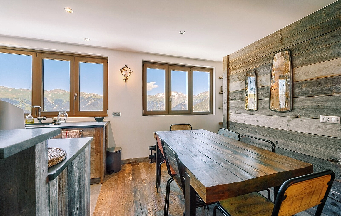 Dining area with superb view
