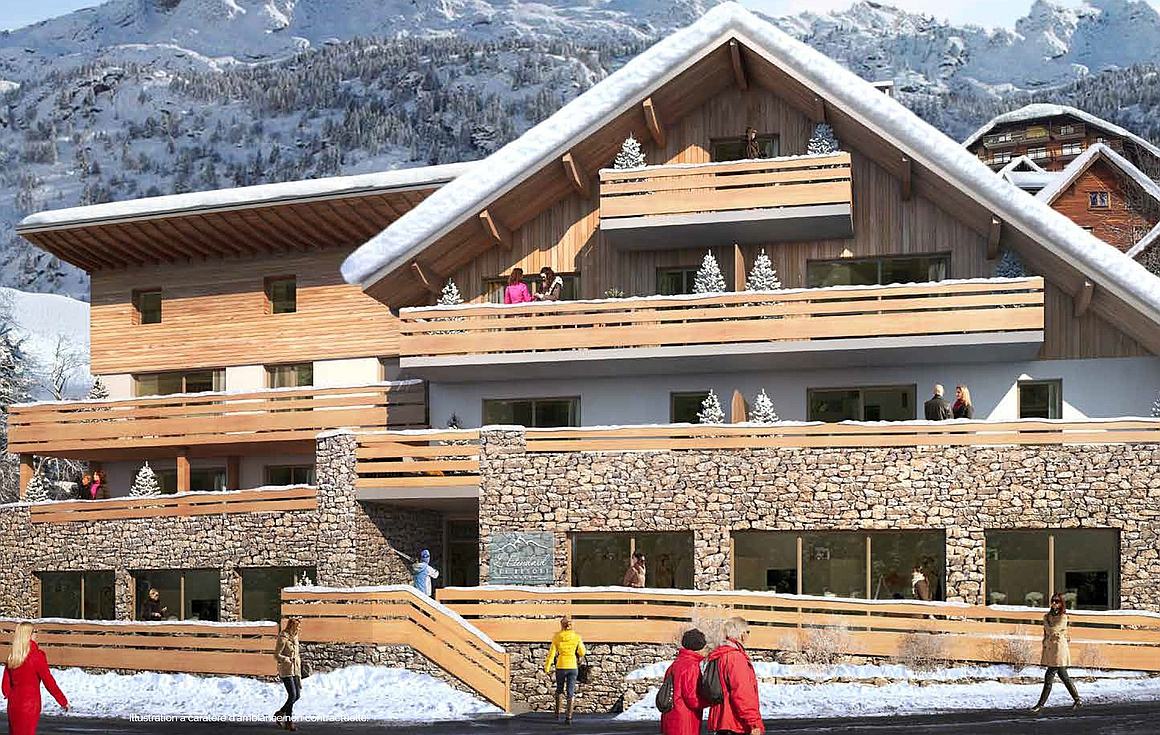 Exterior of Vaujany apartments for sale