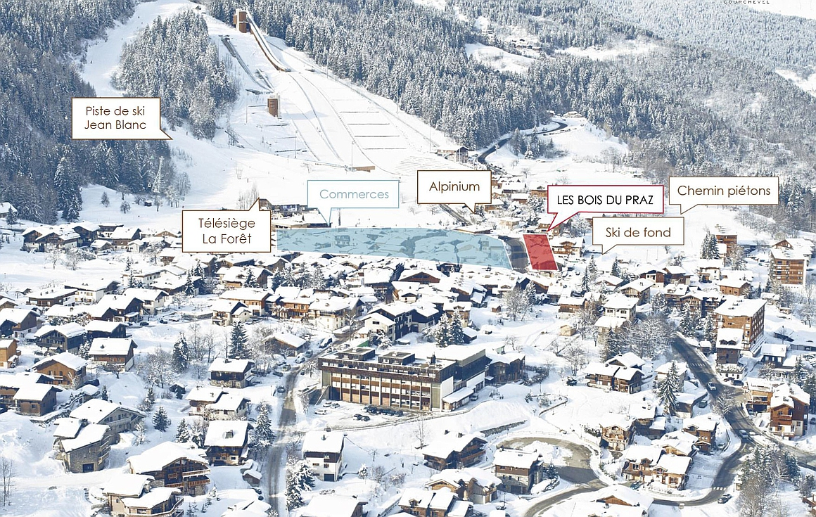 Outstanding location of chalets for sale in Courchevel