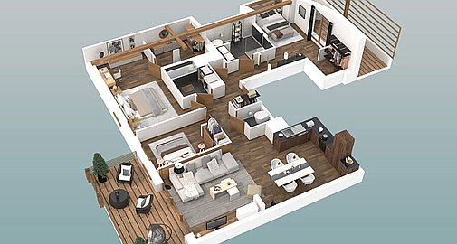 Example apartment layout