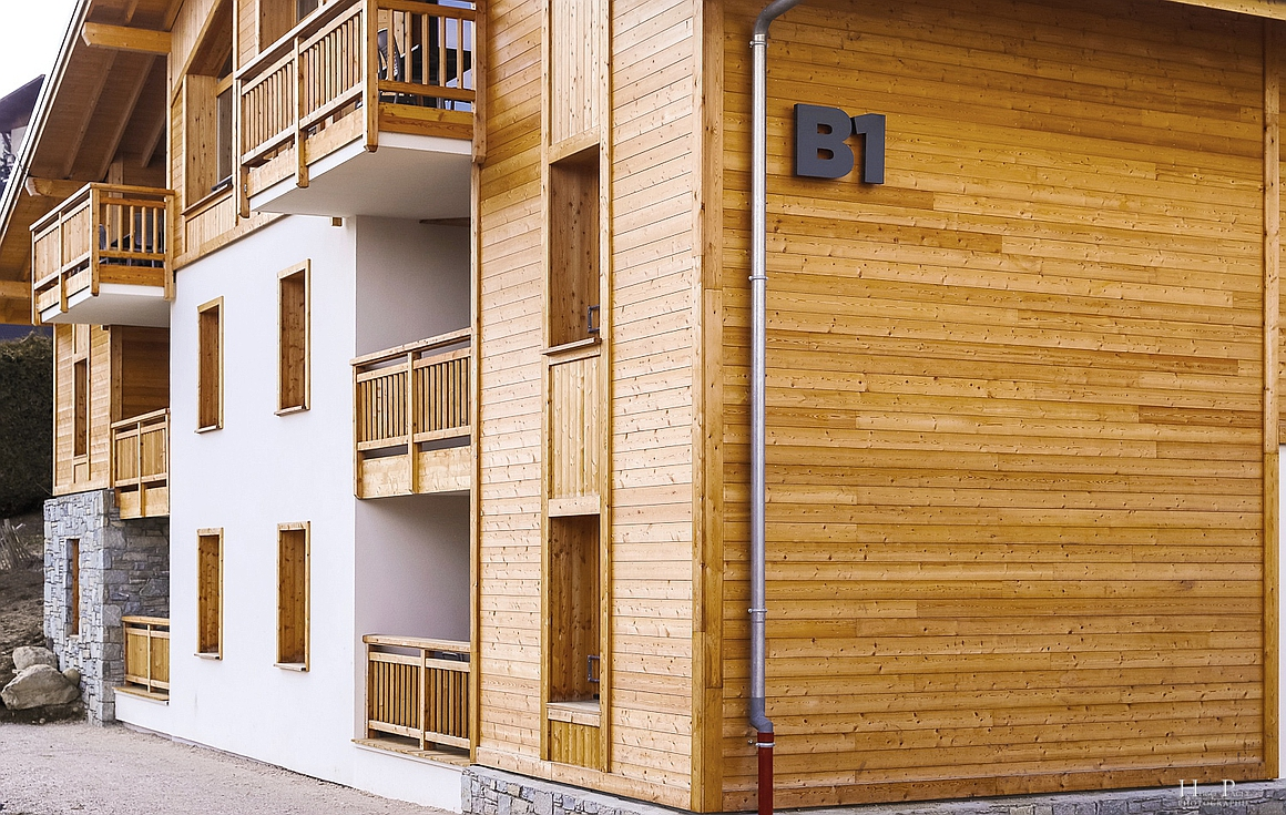 Exteriors of apartments and chalets for sale