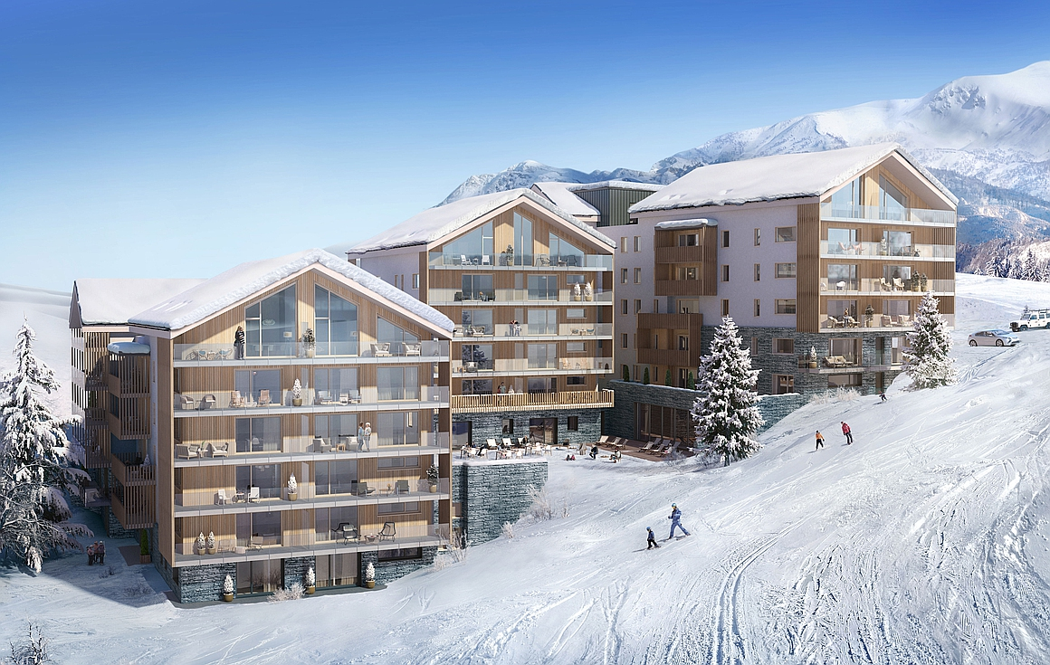 Brand new ski in and out apartments for sale in Alpe d'Huez