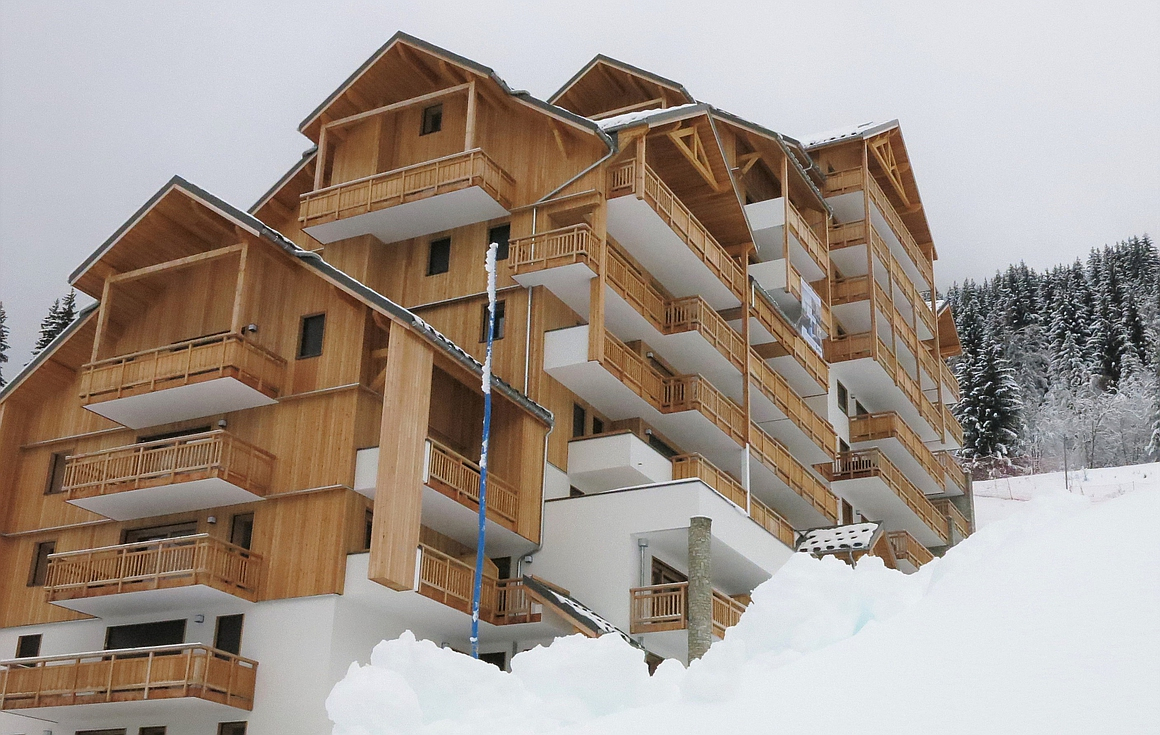 Completed apartments on the slopes