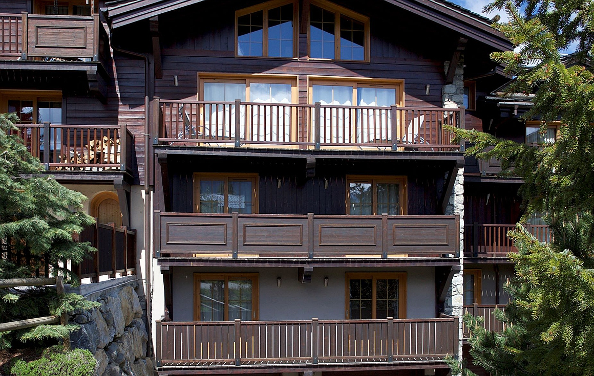 The semi detached chalet for sale in Le Praz