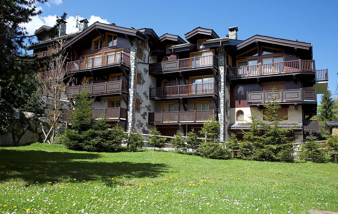 The exterior of the semi detached chalets for sale in Le Praz