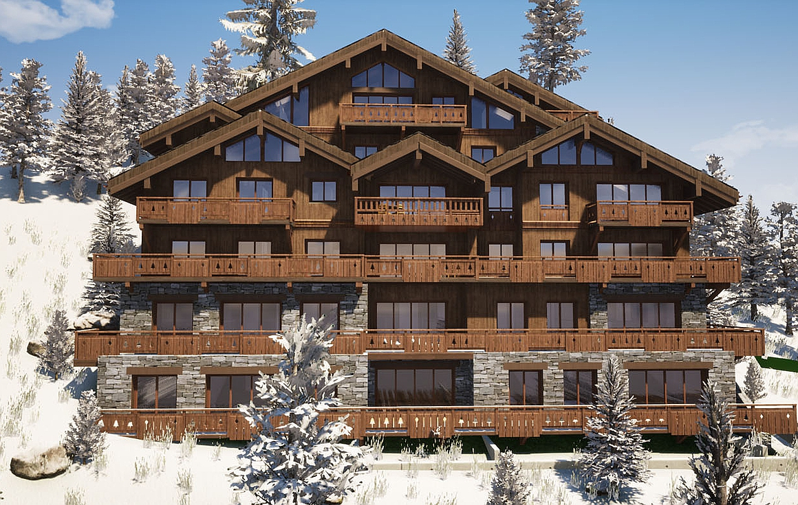 The new development of Meribel ski apartments for sale