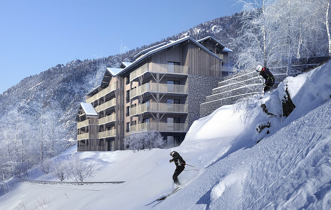 The project of apartments for sale in Chatel