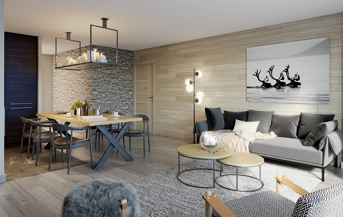 Example Interior of apartments for sale in Alpe d'Huez