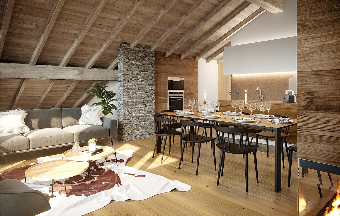 Interior Example apartments for sale Alpe d'Huez
