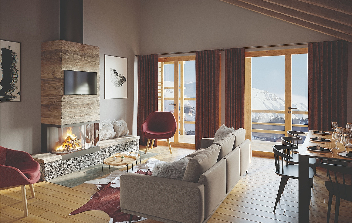 Interior Example of Alpe d'Huez apartments