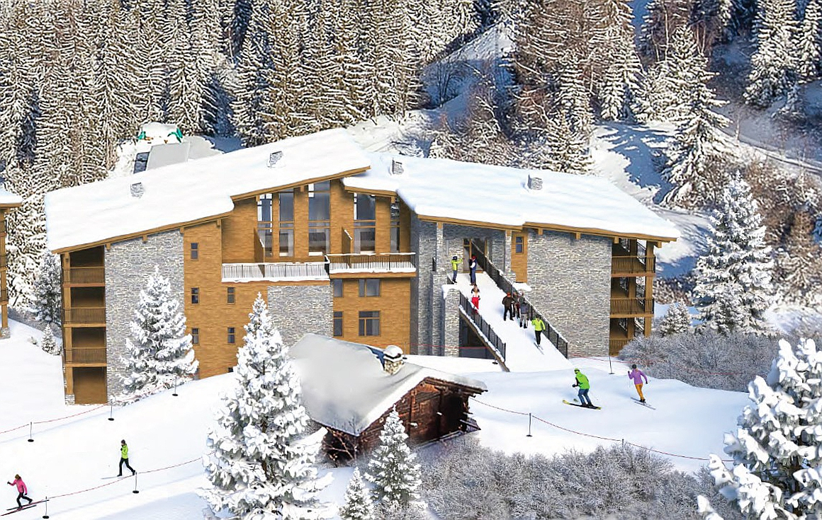 The ski in and out residences in Les Arcs