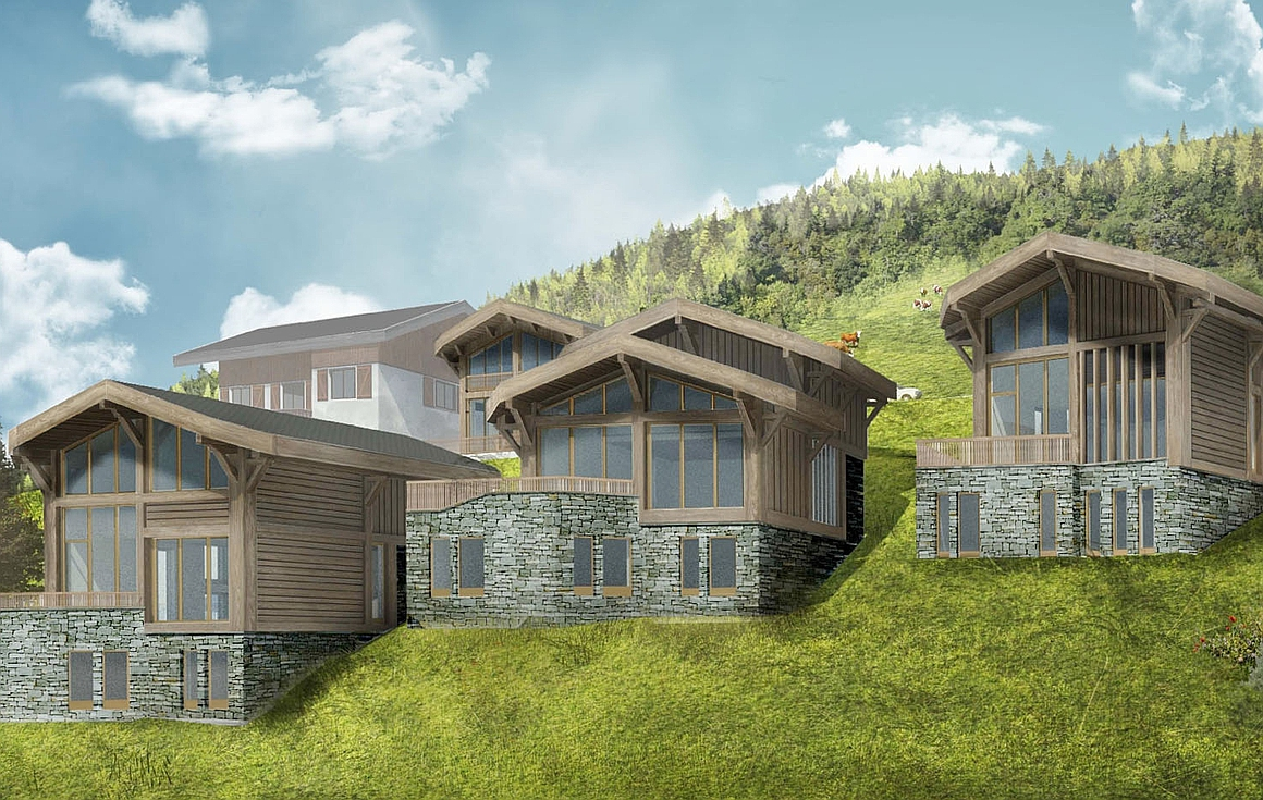 The 3 Les Gets chalets for sale