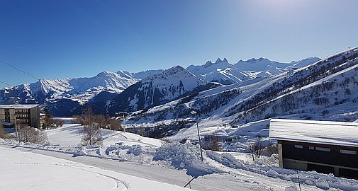 Outstanding South facing views from the chalets for sale