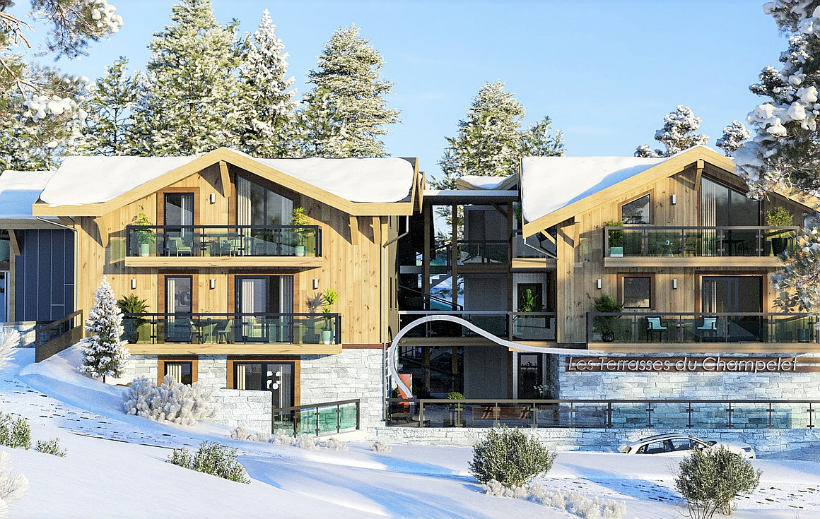 The new ski in and out apartments for sale
