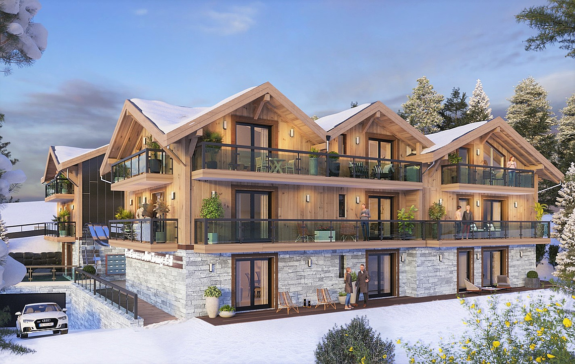 Ski in and out apartments for sale to within 80m