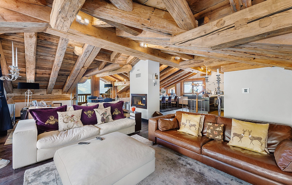 Living Room of the chalet in Courchevel