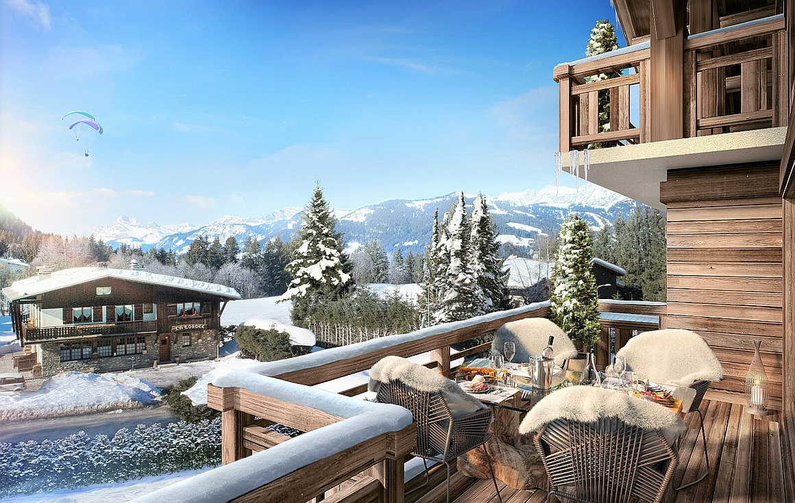 Exterior of apartment for sale in Megeve