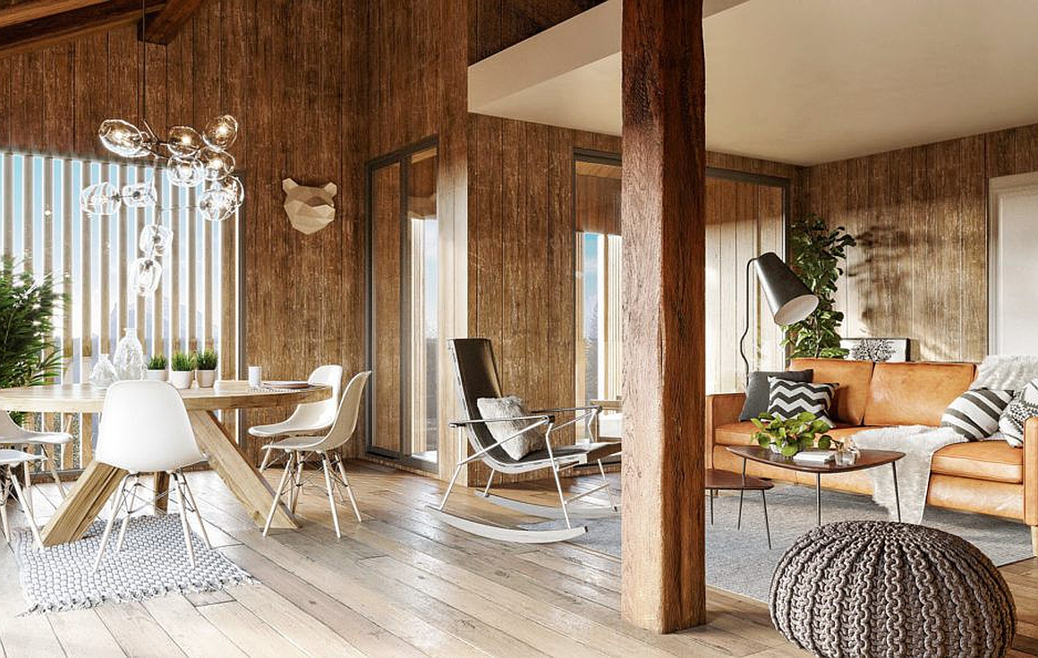 Interior finish examples of the Morzine properties