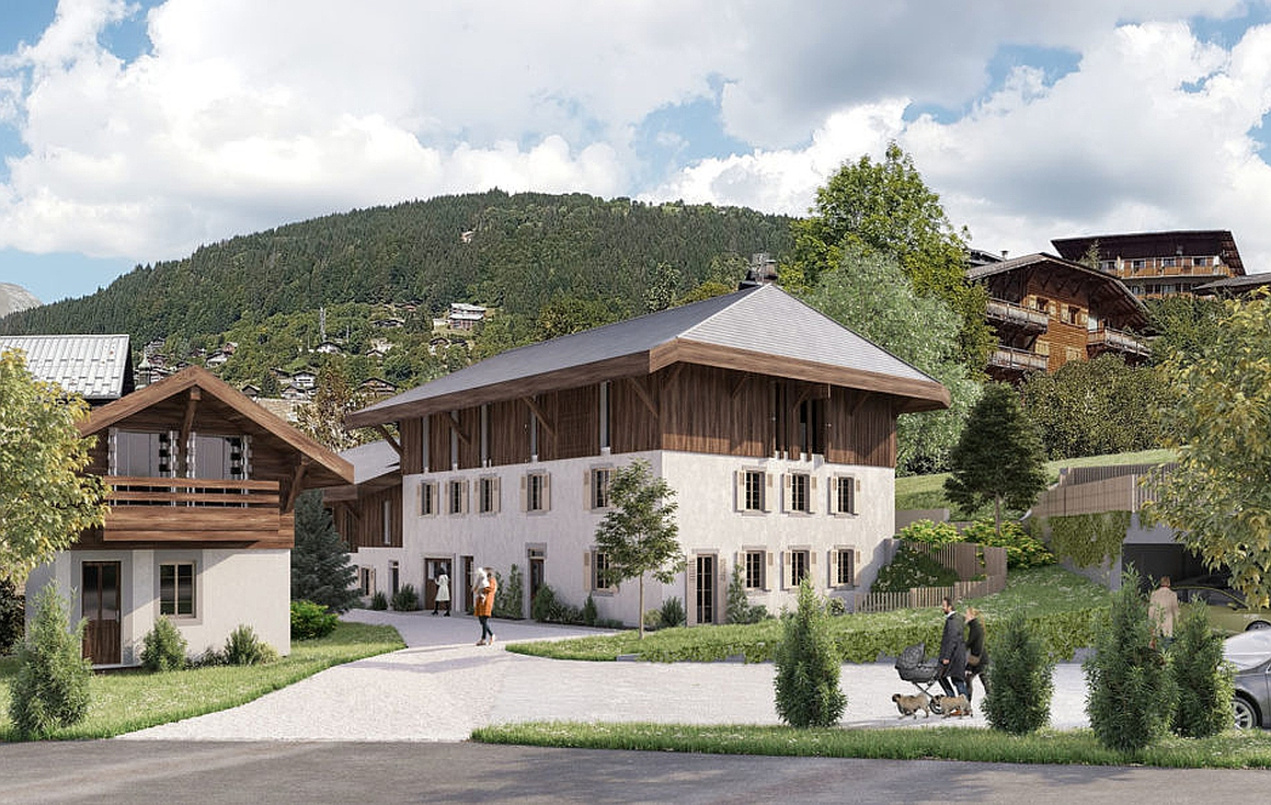 Exterior building of Morzine apartments for sale