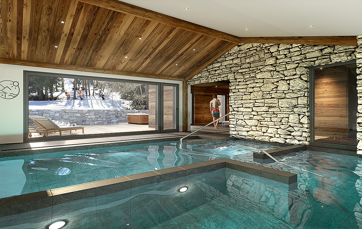 The Spa pool area
