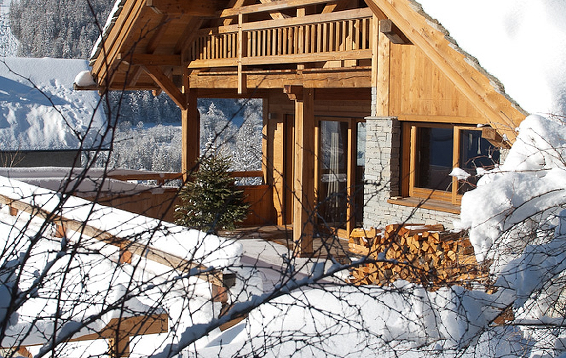 Finished chalets by construction company