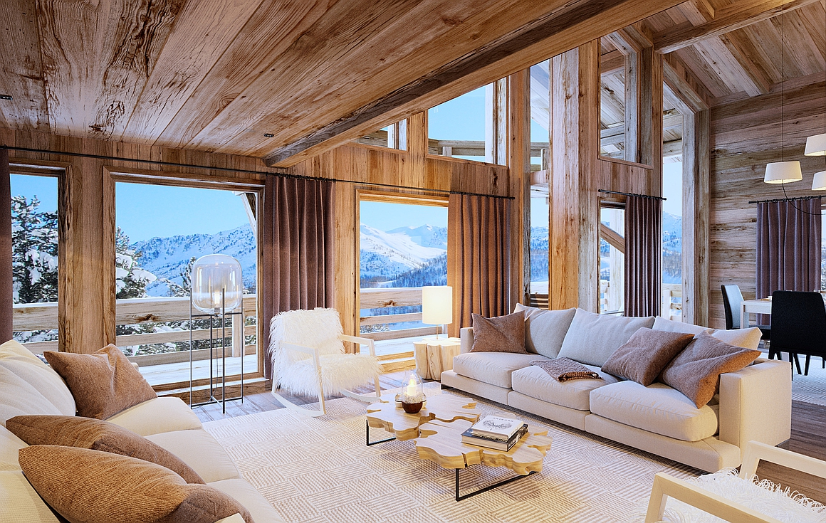 Chalet living area