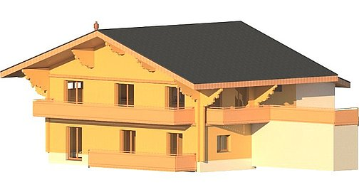3D Visual of chalet to be built