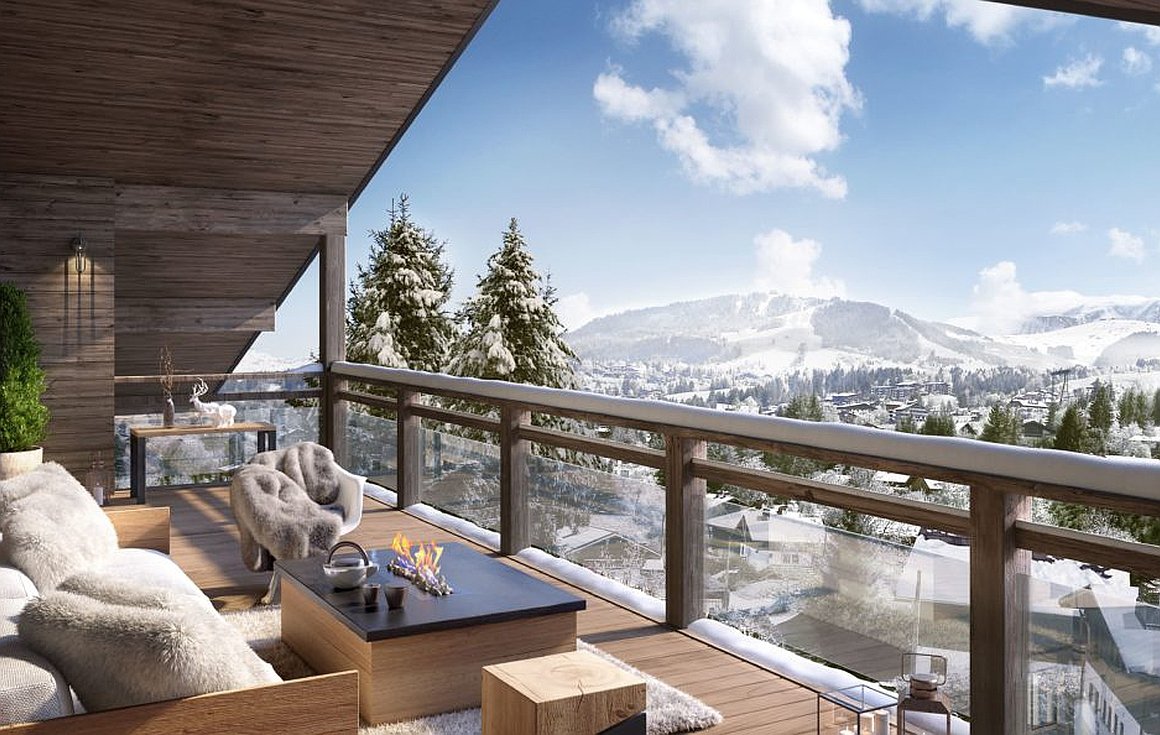Views over Megeve