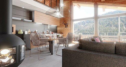 Interior finish in apartments