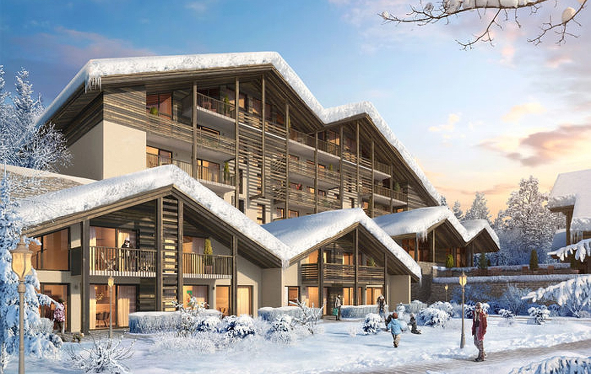 The apartments for sale in Combloux