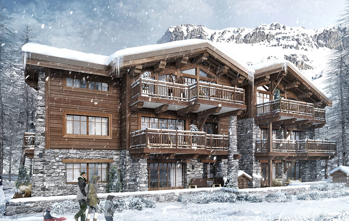 4 bedroom off plan apartments for sale in Val d'Isere