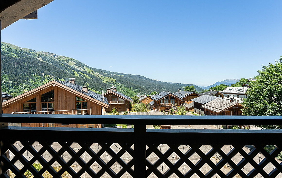 Beautiful view from the chalet for sale in Meribel Village