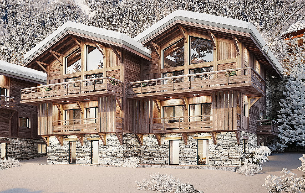 The luxury chalets for sale in Vaujany