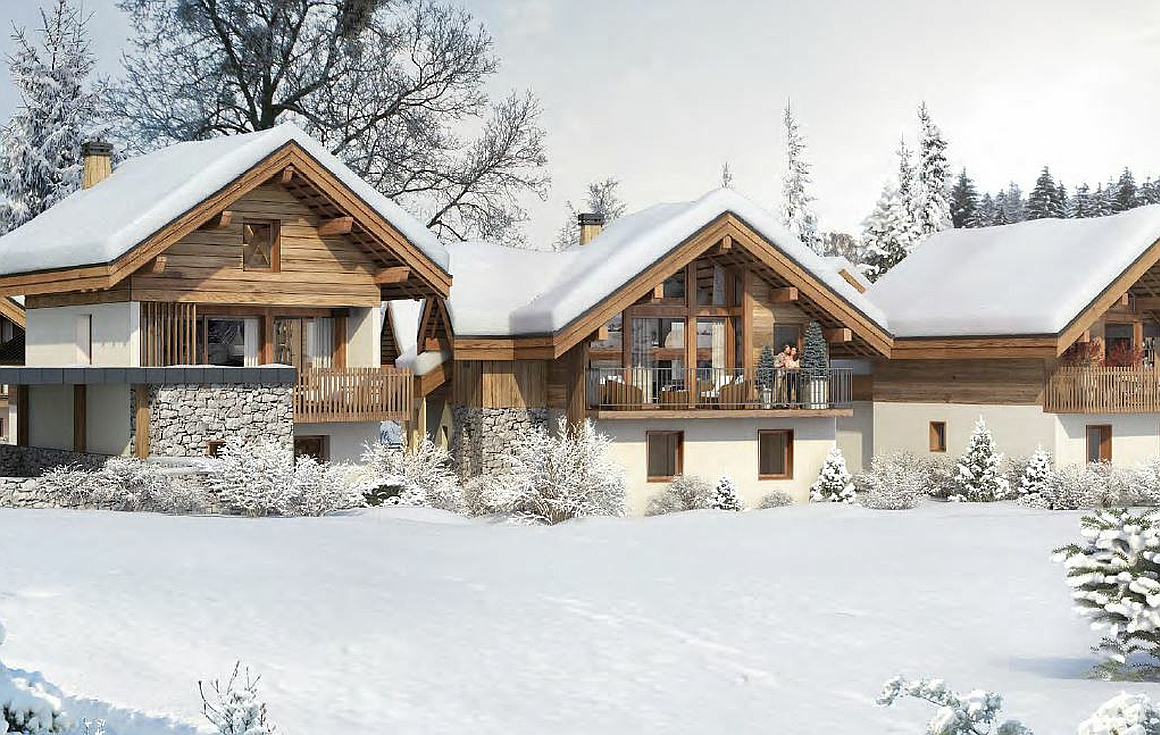 The ski chalets for sale in Valloire