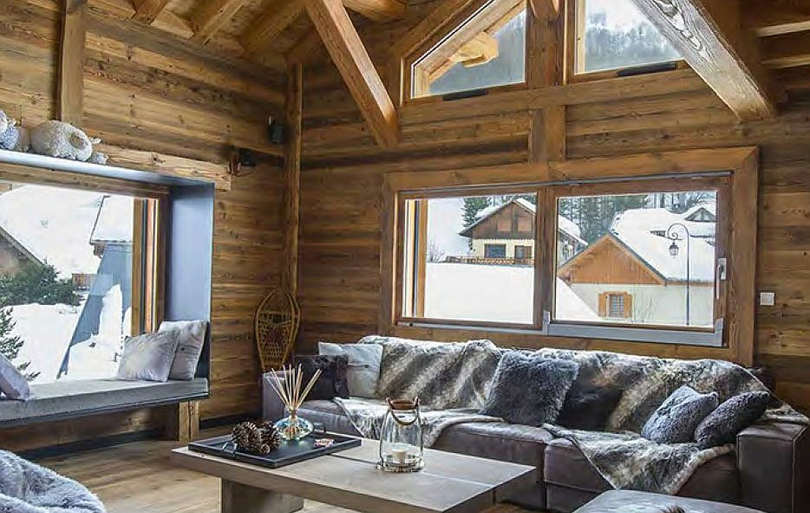 Interior example of finish in the chalets
