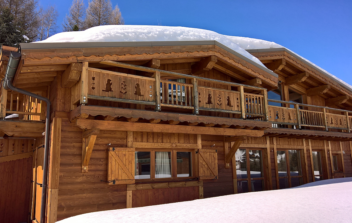 Les Deux Alpes chalet built over 2 floors