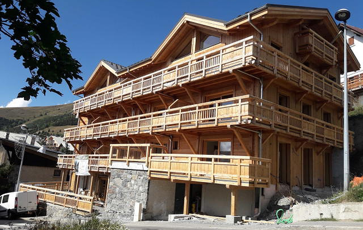The apartments nearing completion