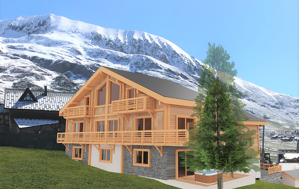 The off plan chalet for sale in Alpe d'Huez