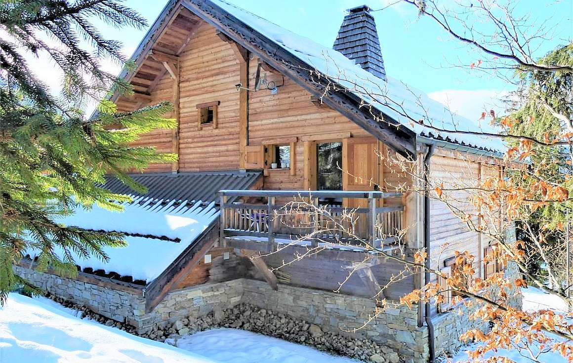Rear of the chalet for sale