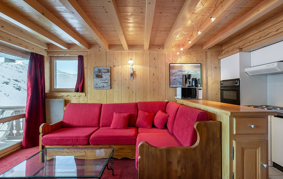Interior of Val Thorens apartment for sale