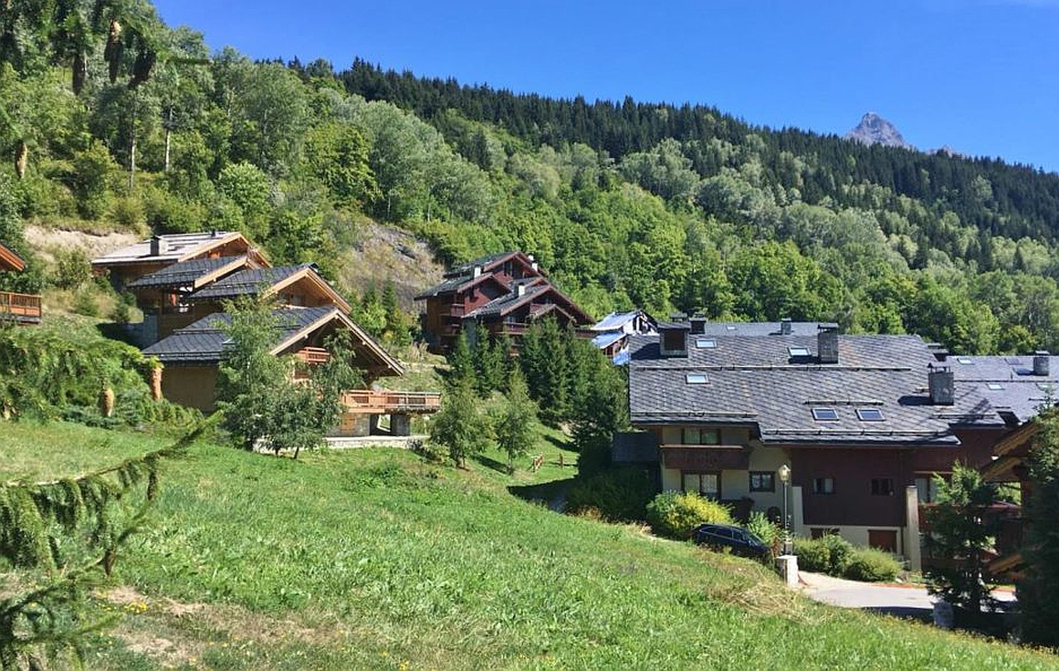 The site of the ski apartments for sale