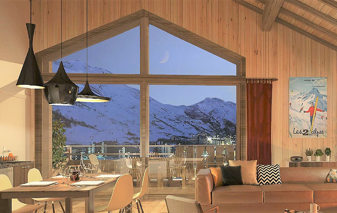 Apartment interiors of apartments for sale in Les Deux Alpes