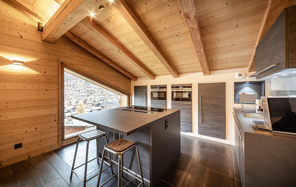 The stunning penthouse for sale in Morzine