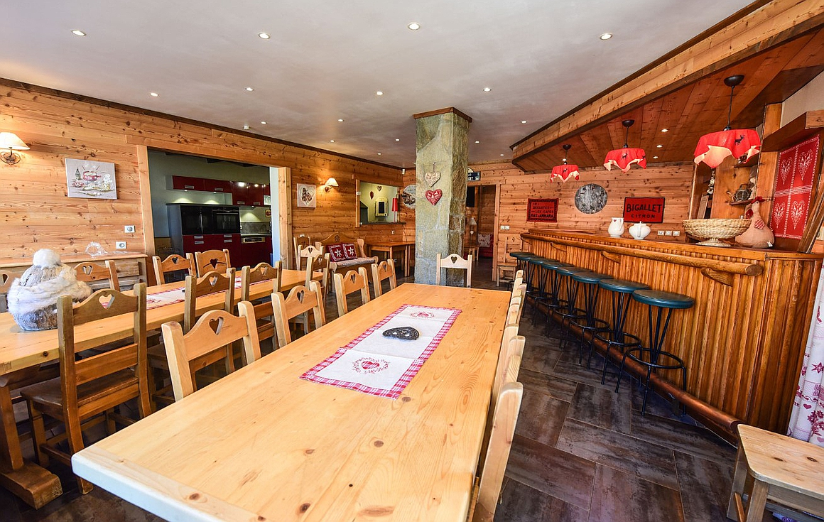 The dining area and bar