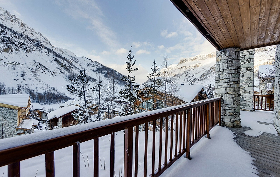View from the Chalet for sale in Val d'Isere