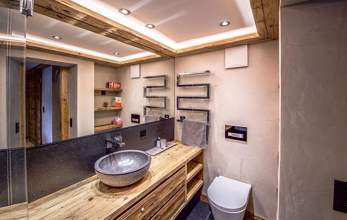 Bathroom examples of finish